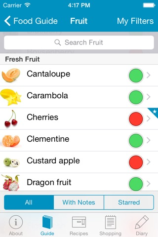 Monash University FODMAP diet screenshot 2