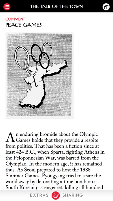 Screenshot 2 for The New Yorker's iPhone app'