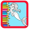 Little Paint Games Coloring Book Mermaid