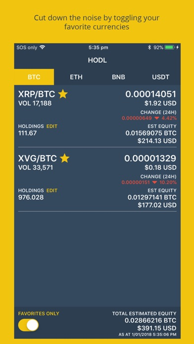 HODL for Binance screenshot 2