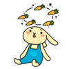 Lidia Frias - Funny Rabbit Emoji and Sticker  artwork