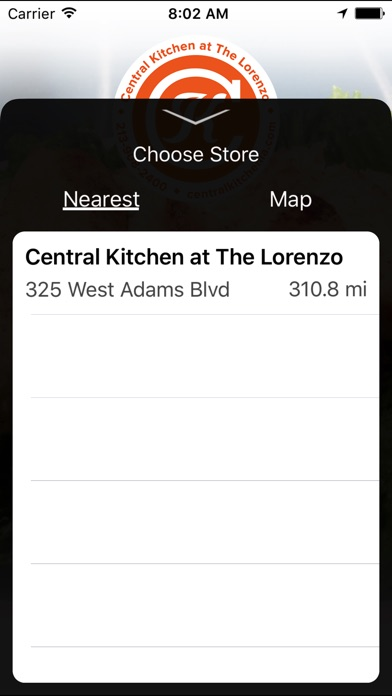 Central Kitchen at the Lorenzo on the App Store