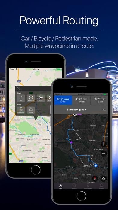 Screenshot for Ireland Offline Navigation in United States App Store