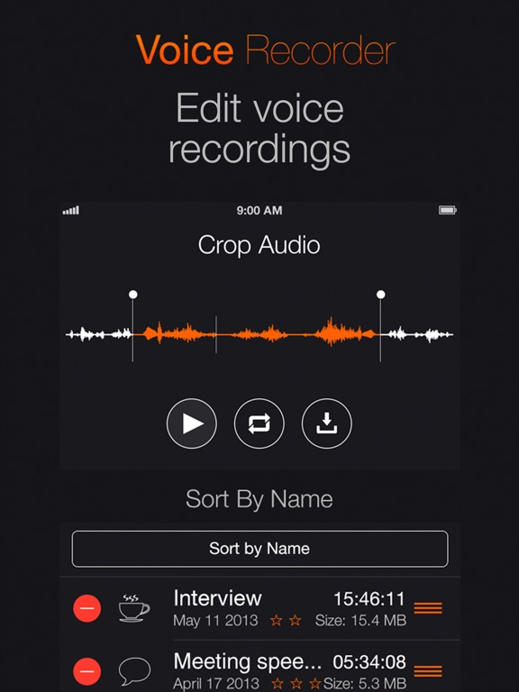 Voice Recording: Audio memos Screenshots