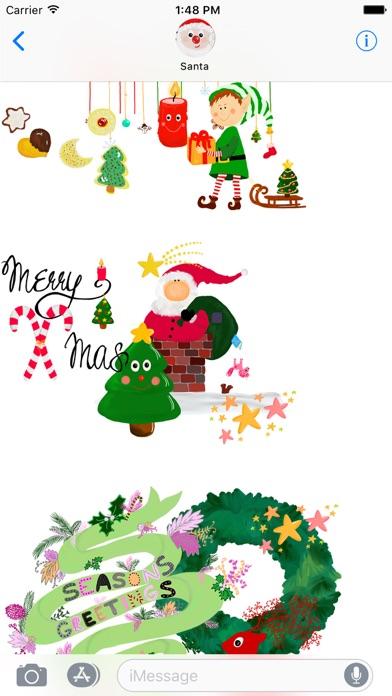 Стильные рождественские наклейСкриншоты 2