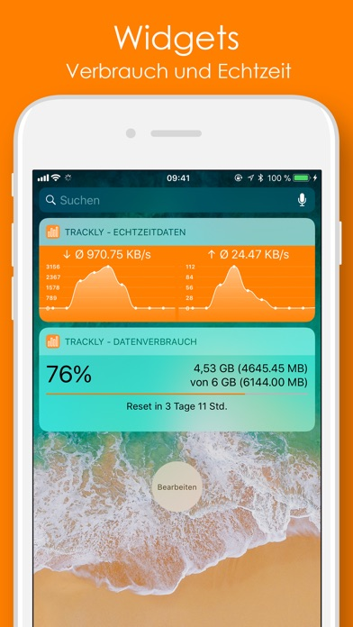 Trackly - Telekom Datenvolumen Screenshots