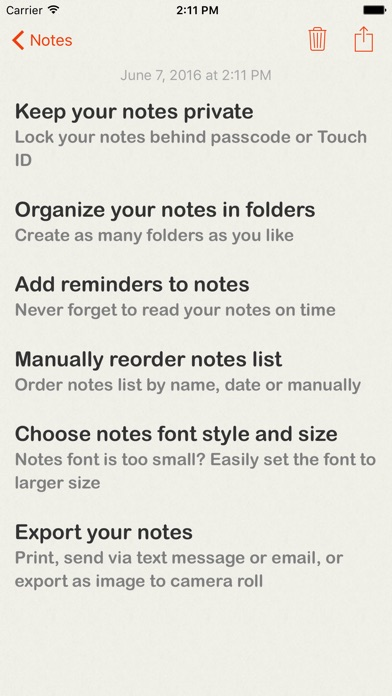 Lock Notes Pro Screenshots