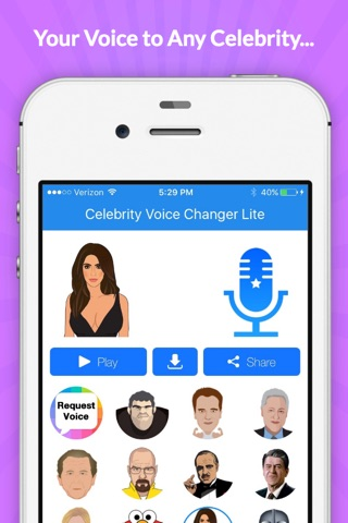 Voice Changer -Celebrity Emoji screenshot 4