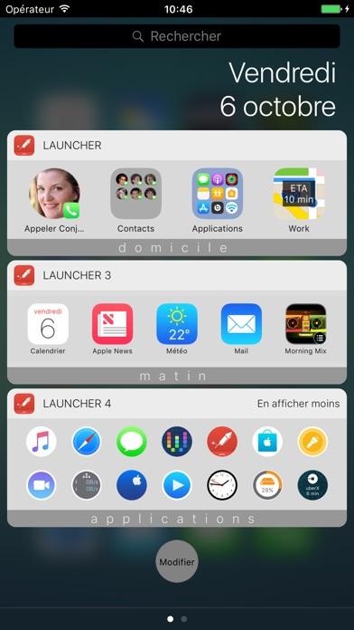 Launcher avec widgetCapture d'écran de 1