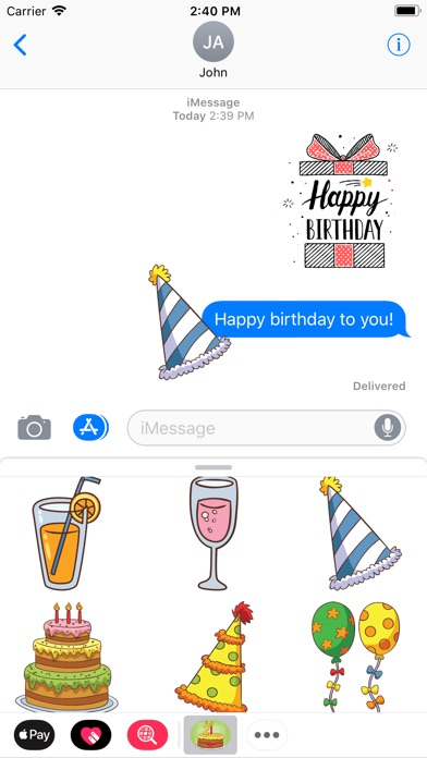 download Birthday Celebrate Stickers apps 1