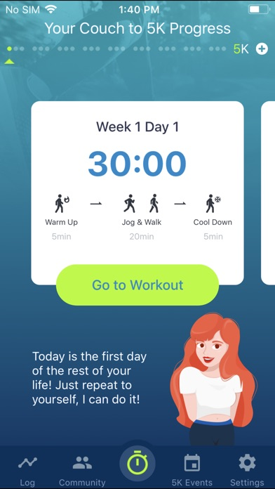 Couch to 5K® - Run training Screenshots