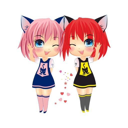 Sira & Mira - Manga Anime Emoji Sticker Keyboard par Emoji