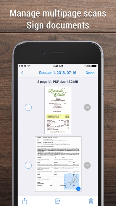 Screenshot of iScanner - PDF Scanner App. App