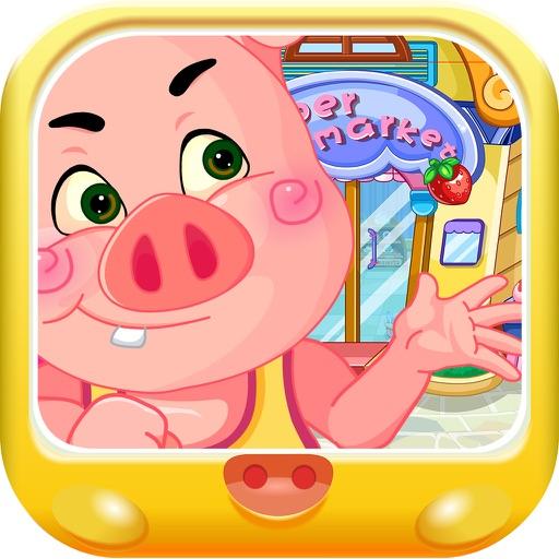 粉红小猪陪妈妈逛商场
