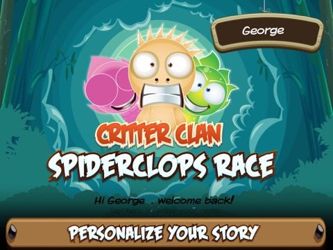Critter Clan: Spiderclops Race screenshot 1