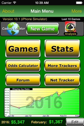 Poker Track Lite – Live Stats and Bankroll Tracker screenshot 1