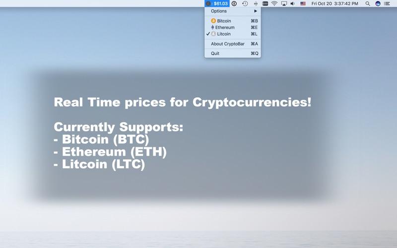 CryptoBar: Bitcoin and Altcoin 앱스토어 스크린샷