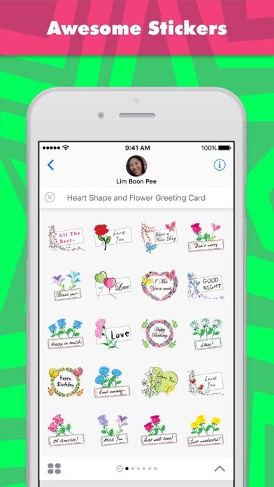 Heart Shape And Flower Greetin review screenshots