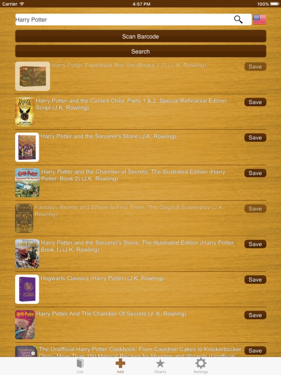 My Book List - Library manager Screenshots