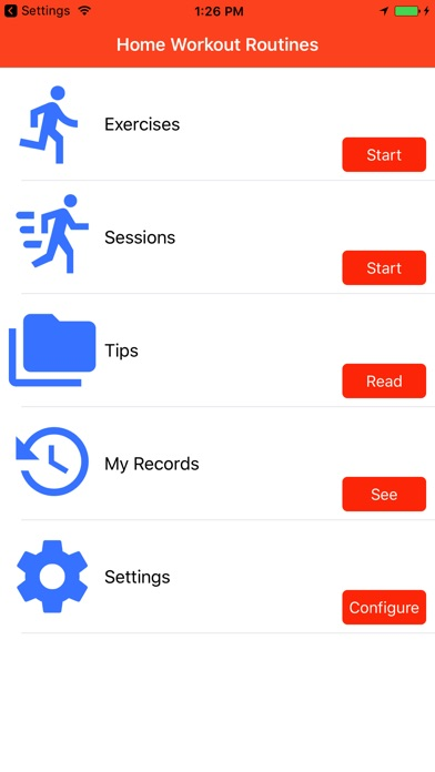 App shopper home workout routines healthcare fitness