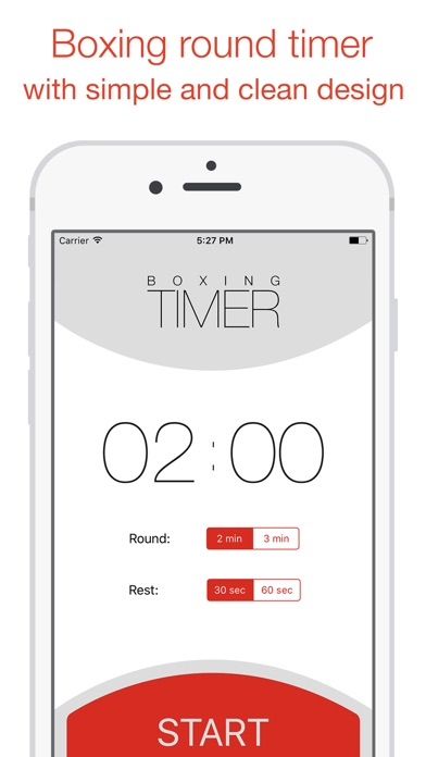 Boxing round timer - for MMA, fitness and workouts Screenshot 1