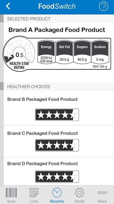 FoodSwitch USA  Screenshot