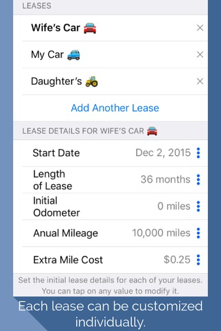 Lease Miles Overage Calculator screenshot 3