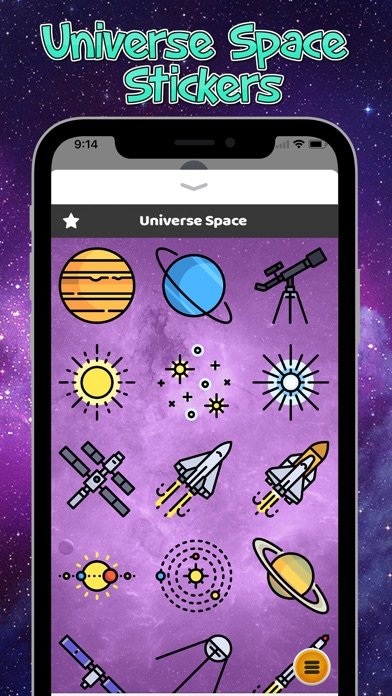 Universe Space Stickers review screenshots