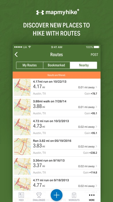 Map My Hike+ by Under Armour Screenshots
