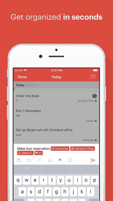 Screenshot 0 for Todoist's iPhone app'