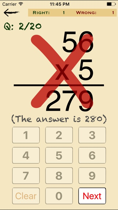 Screenshots of Mental Math Cards - Tips, Fact Practice, & Timed Challenge for iPhone