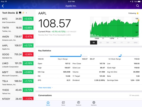 Yahoo Finance screenshot 2