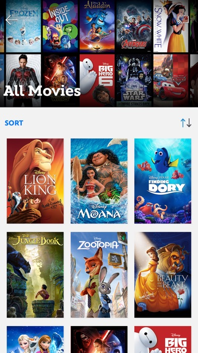 Disney Movies Anywhere review screenshots