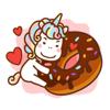download Small Rainbow Unicorn Sticker