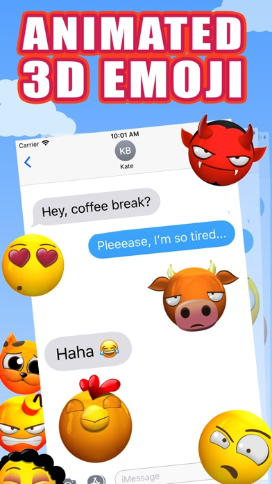 New Animated Emoji - 3D Emojis screenshot 2