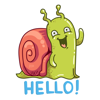 Novoskaz - Funny snail stickers artwork
