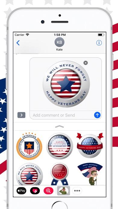 Veterans Day Honour Sticker review screenshots