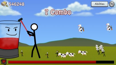 Screenshots of Stick Blender Free: Stickman Defense for iPhone