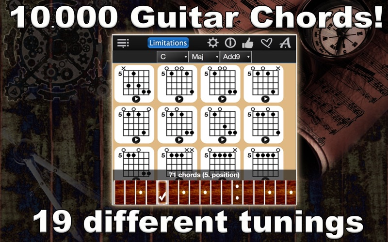 Guitar Chords Compass Lite Screenshot - 1