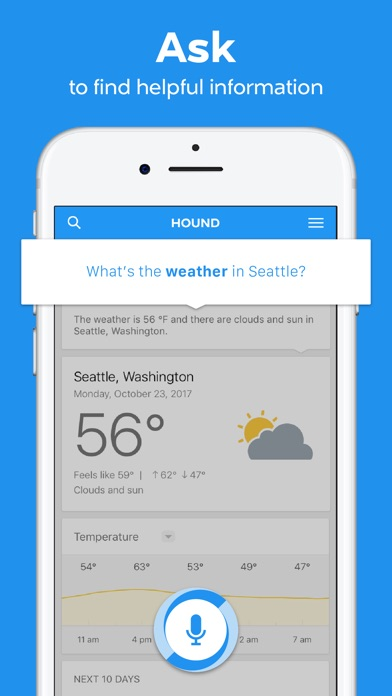 HOUND Voice Search & Assistant Screenshot