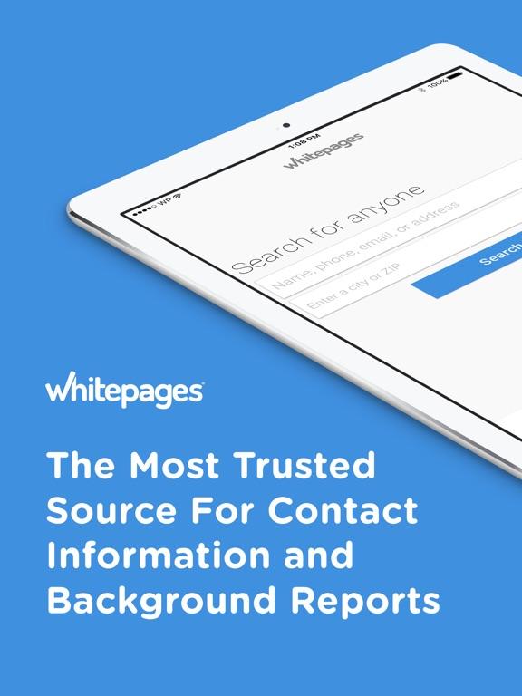 Whitepages Background Checks iPad