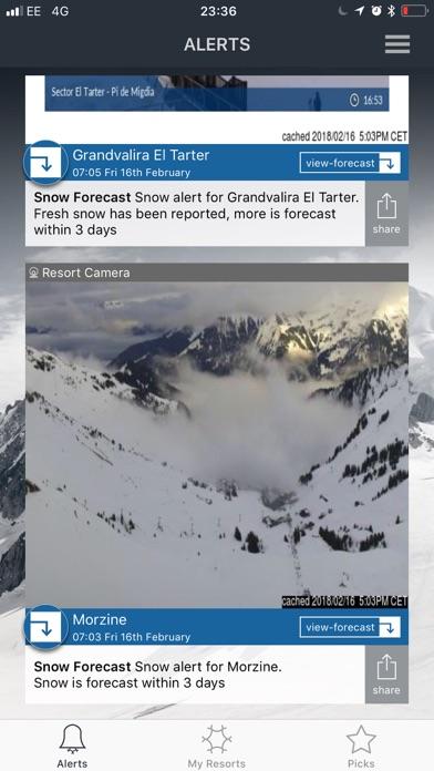 Snow-Forecast.comスクリーンショット