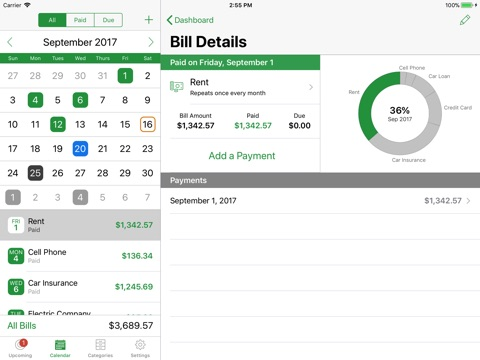 BillMinder 4 screenshot 2
