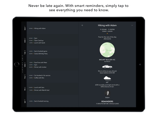 Timepage for iPad Screenshots