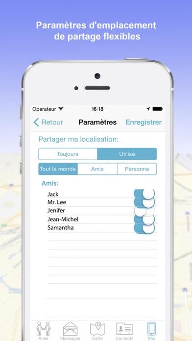 iMap localiser mes amis iPhoneCapture d'écran de 4