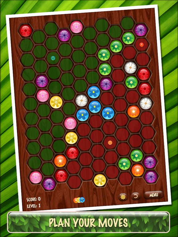 Screenshot #2 for Flower Board HD - A relaxing puzzle game