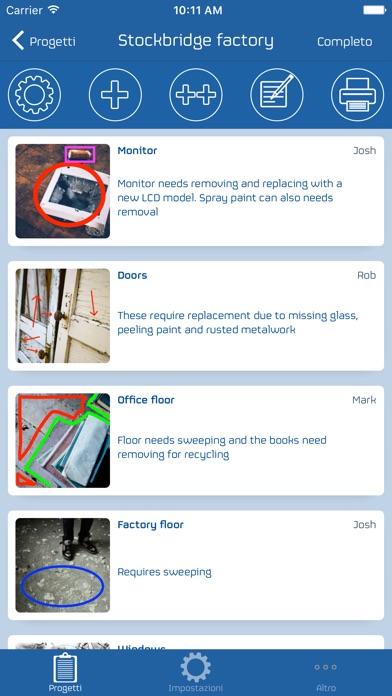 Screenshot of Snag List2