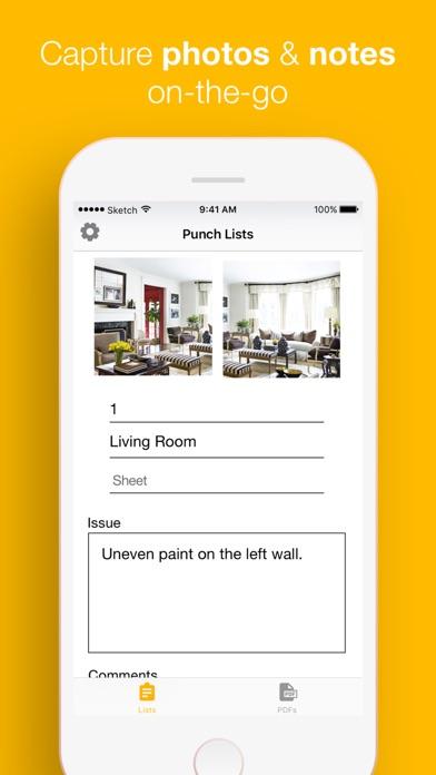 PunchList - Create Punchlists Screenshots