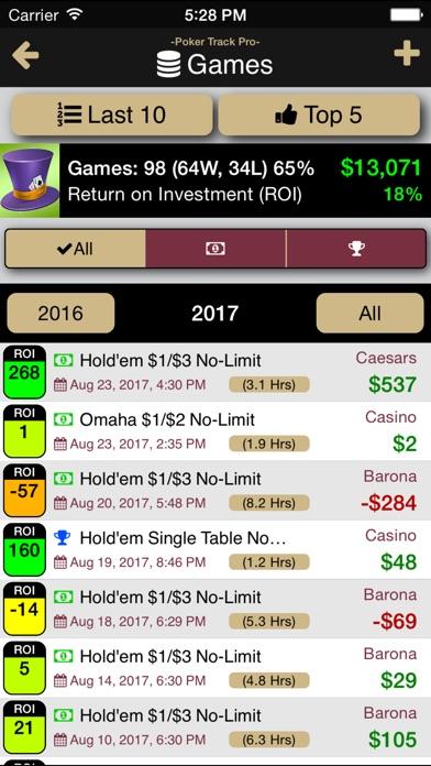 Poker Track Pro – Live Stats and Bankroll Tracker Screenshots