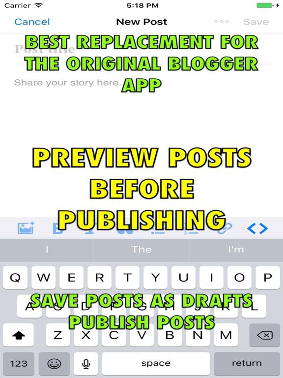 Weebly Blogging iPhone and iPad App Screenshot